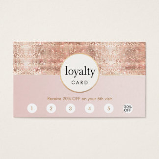 Pink and Rose Gold Sequin Salon 6 Punch Loyalty