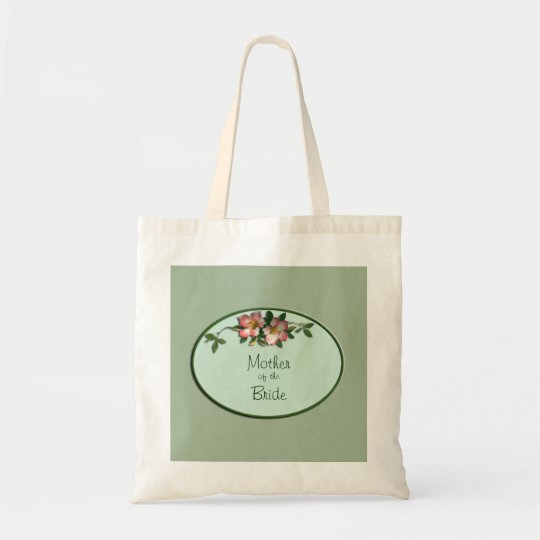 Pink and Sage Floral Wedding Favour Tote
