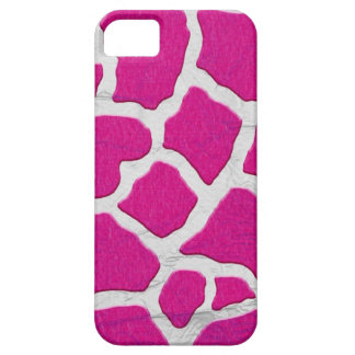 Pink and Silver Giraffe iPhone 5 Covers
