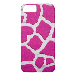 Pink and Silver Giraffe iPhone 8/7 Case