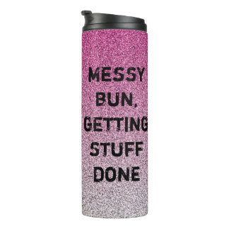 pink and silver glitter ombre tumbler, mum gift thermal tumbler