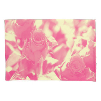 Pink and Soft Yellow Roses Pillowcase