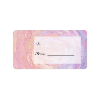 Pink and Stinky Address Label