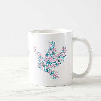 Pink and Teal DOVE Coffee Mug