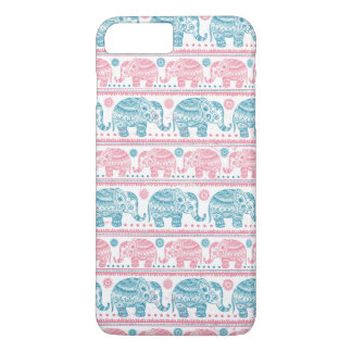 Pink And Teal Ethnic Elephant Pattern iPhone 8 Plus/7 Plus Case