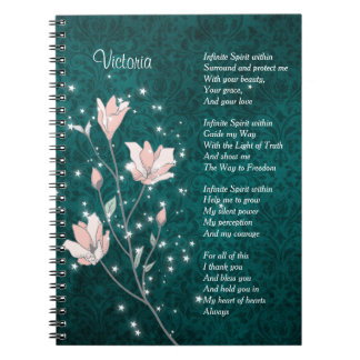 Pink and Teal Morning Prayer Notebooks