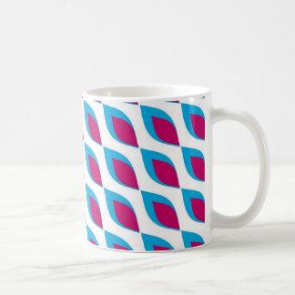 Pink and Teal Pop Art Basic White Mug