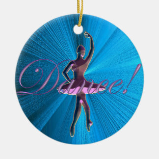 Pink and Turquoise Blue Ballerina Ornament