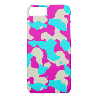 Pink and Turquoise  Camouflage iPhone Phone Case