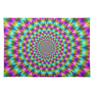 Pink and Turquoise Chrysanthemum Placemats Cloth Place Mat