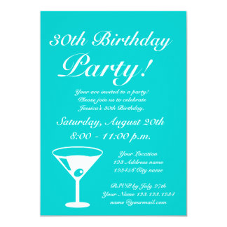 Pink and turquoise Keep calm Birthday invitations