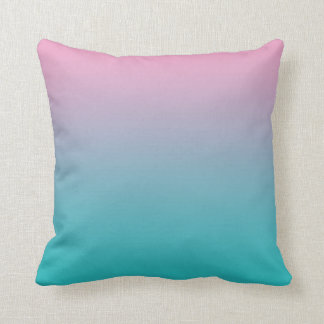 """Pink And Turquoise Ombre"" Cushion"