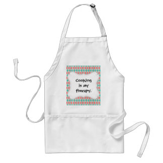 Pink and Turquoise Triangle Aztec Tribal Pattern Adult Apron