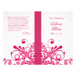 Pink and White Abstract Floral Wedding Program Personalised Flyer