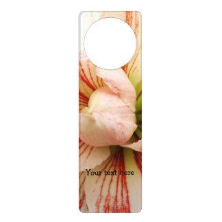 Pink and White Amaryllis Flower Door Hanger