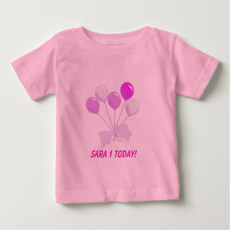 Pink and White Balloons Baby T-Shirt