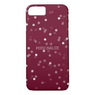 PInk and White Bokeh Confetti iPhone 7 Case