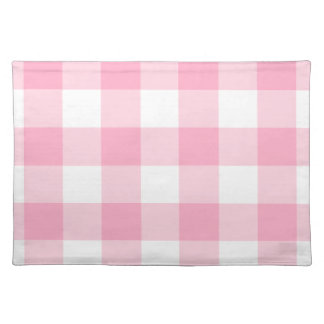 Pink and White Buffalo Check Placemats