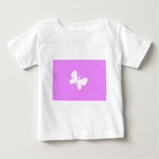Pink And White Butterfly Baby T-Shirt