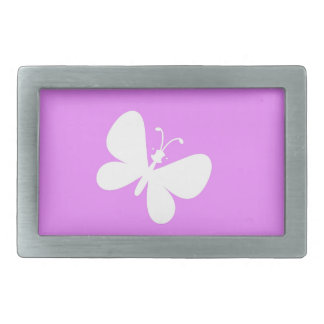 Pink And White Butterfly Belt Buckles