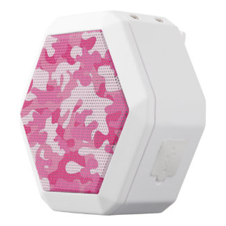 Pink and White Camo Design
