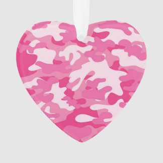 Pink and White Camo Design Ornament