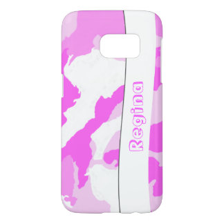 Pink and White Camouflage Pattern