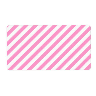 Pink and White Candy Stripes. Shipping Label