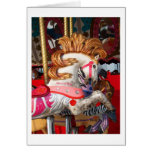 Pink and white carousel horse photograph fair
