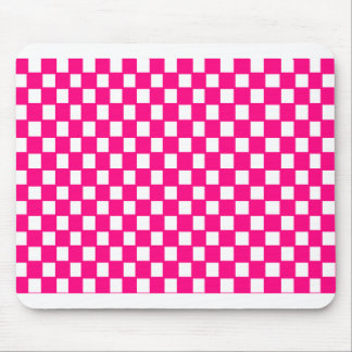 pink and white checker mouse pad