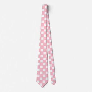 Pink and White Checkered Tie