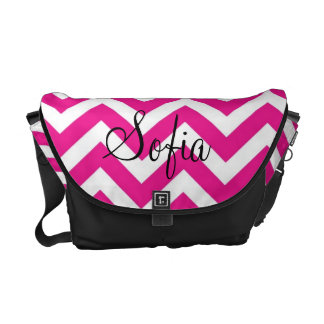 Pink and White Chevron Modern Diaper Bag Commuter Bags