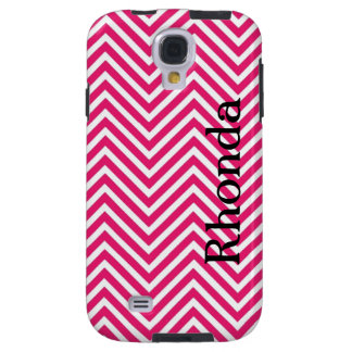 Pink and White Chevron Samsung Galaxy S4 Case