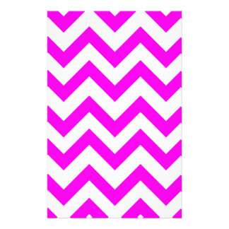 Pink And White Chevrons Stationery