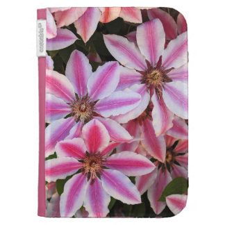 Pink and white clematis kindle folio kindle keyboard covers