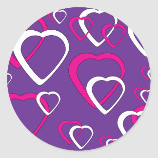 Pink and White Cutout Hearts sticker
