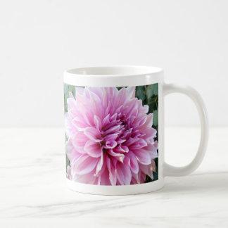 Pink and White Dahlia Basic White Mug