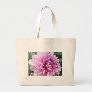 Pink and White Dahlia Jumbo Tote Bag