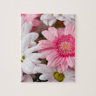 Pink and White Daisies Jigsaw Puzzle
