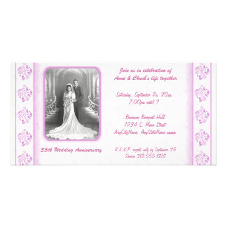 Pink And White Damask Paisley Party Invitation