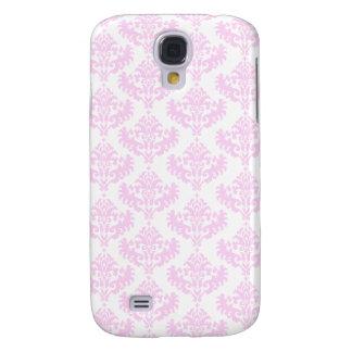 Pink and White Damask Pattern Galaxy S4 Case
