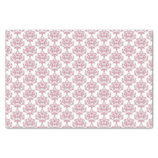 Pink and White Damask Tissue Paper