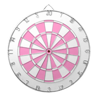 pink and white dartboards