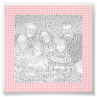 Pink and White Dots Frame Photo Art Photo