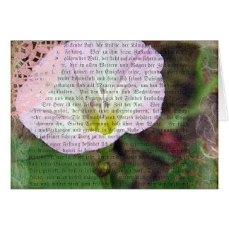 Pink and White Field BindWeed Card