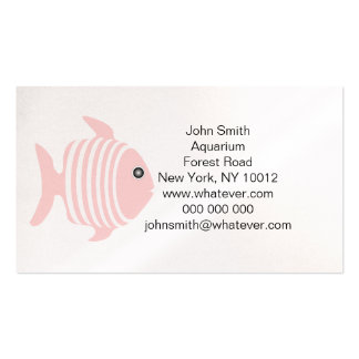 Pink And White Fish Aquarium Pack Of Standard Business Cards
