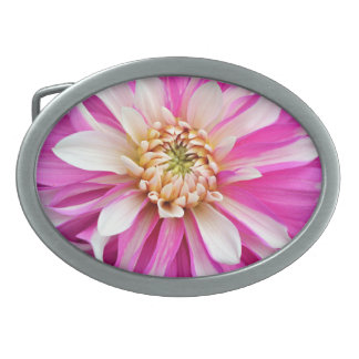 Pink And White Floral Belt Buckle