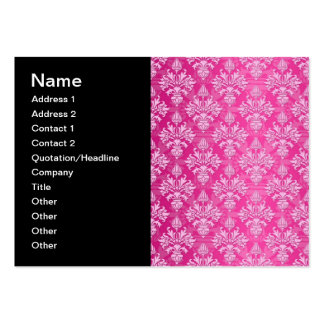 Pink and White Floral Damask Pattern Pack Of Chubby Business Cards