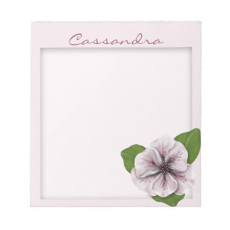 Pink and White Floral with Matte Notepad