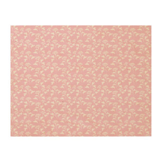 pink and white flower pattern wood canvas